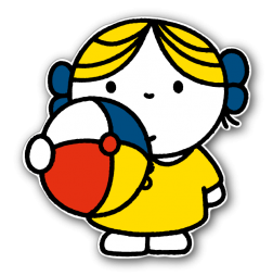 Dick Bruna - Silhouetbord meisje met bal Nijntje, vvn, school, schoolzone, kinderdagverblijf, crèche, creche, Miffy, Silhouet,