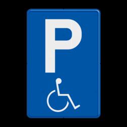 Verkeersbord E9a: Parkeren mindervaliden toegelaten Verkeersbord België E9a - Parkeren mindervaliden toegelaten E9a