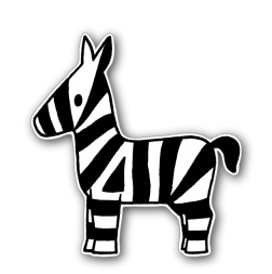 Dick Bruna - Silhouetbord zebra Nijntje, vvn, school, schoolzone, kinderdagverblijf, crèche, creche, Miffy, Silhouet,