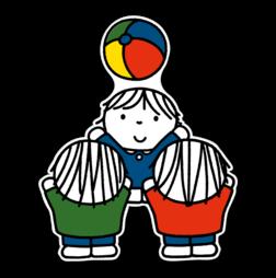 Dick Bruna - Silhouetbord spelende kinderen Nijntje, vvn, school, schoolzone, kinderdagverblijf, crèche, creche, Miffy, Silhouet,