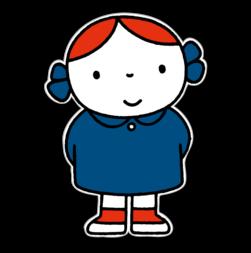 Dick Bruna - Silhouetbord meisje met blauwe jurk Nijntje, vvn, school, schoolzone, kinderdagverblijf, crèche, creche, Miffy, Silhouet,