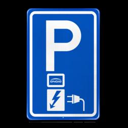 Parkeerbord Parkeerplaats met oplaad punt - Parkeergelegenheid alleen bestemd voor elektrische voertuigen Parkeerbord RVV E08o - oplaadpunt - Engie BW101 SP19 - autolaadpunt, autolaadpunt, oplaadpalen, oplaadpaal, BE04, elektrisch, Opladen, Laadpaal