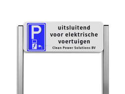 Parkeerplaatsbord unit, Parkeren + tekst - BE04i BE04i Parkeerbord, parkeerplaats, eigen plaats, parkeren, RVV E04, p bord, BW101 SP19 - autolaadpunt, autolaadpunt, oplaadpalen, oplaadpaal, BE04, elektrisch, Opladen, Laadpaal