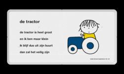 Dick Bruna - Lesbord - de tractor Nijntje, Dick Bruna, lespakket, verteltas, stoeptegel, Lesbord 'de tractor'