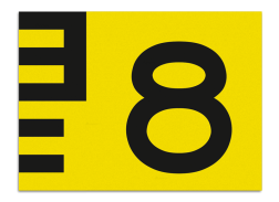 Scheepvaartbord Hoogteaanduiding links van de vaarweg. Een hoogteschaal met onderverdeling wordt toegepast wanneer een zekere nauwkeurigheid van aflezing mogelijk en vereist is. Een hoogteschaal plaatst men in principe aan de van een naderend schip gezien Scheepvaartbord BPR G. 5.1 - 1350x1000mm - Vlak G. 5.1. water, brug, hoogte, waterweg, waterwegen, scheepvaarttekens, verkeerstekens