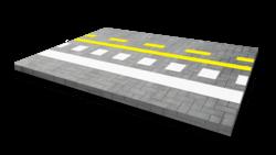 Wegmarkering - belijning en strepen Wegmarkering, vloermarkering, parkeervak, belijning, parkeerplaats, parkeerterrein, wegenverf, belijning, lijnmarkering