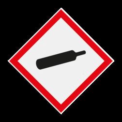 Product Houder onder druk Pictogram GHS04 - Houder onder druk GHS04 GHS, gevaar, symbolen, pictogrammen, reflecterend, chemicals, stoffen, mengsels, danger