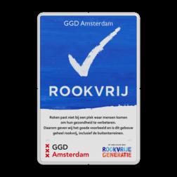 Rookvrij bord - GGD Amsterdam - Op weg naar een Rookvrije generatie GGD, Amsterdam, GGD Amsterdam, Rookvrij, gebouw, terrein