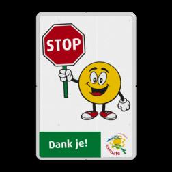 Informatiebord reflecterend - met eigen tekst en in huisstijl STOP, stoppen, drive-in