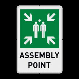 Product Verzamelplaats engels Verzamelplaats engels bord met tekst | Assembly Point Vlucht, Vluchtroute, verzamelplaats, verzamelbord, verzamelen, calamiteiten, BHV, verzamelpunt, Eigen Terrein, BT33, BT34, vluchtroutebord, reddingsmiddelbord, evacuatie, evacuatiebord, veiligheidspictogram, veiligheidsbord, Nooduitgang pictogrammen, Vluchtrouteaanduiding, Verzamelplaats pictogram, Reddingspictogram, nooduitgang symbool, teken, icoon, symbolen, reddingsborden, bhv bord