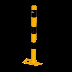 Rampaal Ø76mm staal - geel/zwart - diverse montageopties rampaal, afzetpaal, antirampaal, anti, aanrijdbeveiliging, bescherming, afzet, afzetpaal, magazijnpaal,