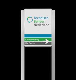 Bedrijfsnaambord reflecterend met luxe staanders - Met logo Bedrijfsnaambord, bedrijfslogo, logobord, bedrijf, bord, reflecterend, portaal, systeem