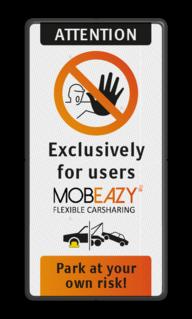 Parkeerbord op maat - lever je eigen ontwerp aan parkeerterrein, logo HERTZ, videobewaking, beveiliging