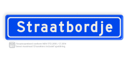 Straatnaambord 12 karakters 700x150 mm NEN 1772 cadeau, kado, straat, eigen bord, straatnaamborden, straatnaam, naambord, straatbord