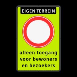 Verkeersbord Gesloten in beide richtingen voor voertuigen, ruiters en geleiders van rij- of trekdieren of vee Verkeersbord RVV C01f_2txt - Gesloten voor alle verkeer - fluor achtergrond C01f fluor geel-groen, C02, C2, ga terug, Gesloten verklaring, verboden in te rijden, eenrichting