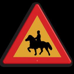 Verkeersbord Overstekende paarden / ruiters Verkeersbord ZWEDEN paarden pas op,zweden, mouse,