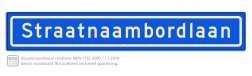 Straatnaambord KOKER 100x15cm - max. 18 karakters - NEN1772 straat, straatnaamborden, naambord, straatbord, kokerbord, NEN, officieel, wegnaam, sign, street, 1000, 100