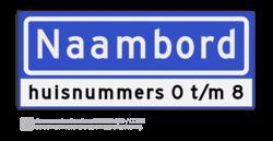 Straatnaambord KOKER 50x20cm - max. 8 karakters - met nummer verwijzing - NEN1772 straat, straatnaamborden, naambord, straatbord, kokerbord, NEN, officieel, wegnaam, sign, street, 500, 50, huis, nummer, verwijzing