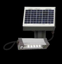 Aanstraalverlichting Solar LED met accu & laadregelaar -  TSL7D-300 aanstraal, verlichting, 12v, 4w, scheepvaart, uithouder, solar, zonne