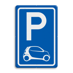 Parkeerbord type E08 automerk - SMART stoep, parkeerplek, parkeerplaats, auto, electrisch, E8, smart