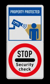 Veiligheidsbord F002 - Bluslang Veiligheidsbord | 2 symbolen