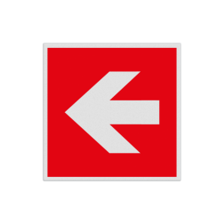 Product F000 - Pijl richting brandbestrijdingsmiddel Pictogram FOOO - Pijl Links brandbestrijdingsmiddel Brand, trap, locatie, vuur, blussen, vluchten, brandkraan, bluswaterput, brandput, Brandbestrijdingsteken, brandbestrijdingspicto