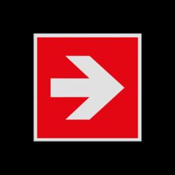 Product F000 - Pijl richting brandbestrijdingsmiddel Pictogram FOOO - Pijl Rechts brandbestrijdingsmiddel Brand, trap, locatie, vuur, blussen, vluchten, brandkraan, bluswaterput, brandput, Brandbestrijdingsteken, brandbestrijdingspicto