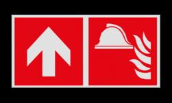 Product Brandbestrijdingsmiddelen verwijzing Haaks bord F004 - Richting Brandbestrijdingsmiddelen F004 Brand, trap, locatie, vuur, blussen, vluchten, brandblusapparaat, blusmiddel, Blusapparaatpicto, Brandbestrijdingsteken, brandbestrijdingspicto, poederblusser, schuimblusser, Koolzuursneeuwblusser