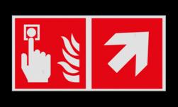 Product Brandmelder verwijzing Haaks bord F005 - Richting Brandmelder F005 Brand, trap, locatie, vuur, blussen, vluchten, brandblusapparaat, blusmiddel, Blusapparaatpicto, Brandbestrijdingsteken, brandbestrijdingspicto, poederblusser, schuimblusser, Koolzuursneeuwblusser