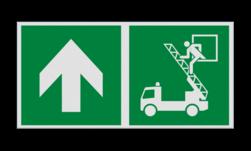 Product Vluchtraam links Haaks bord E017 - Vluchtraam zonder brandladder verwijzing Nooduitgang, vluchtroute, route, deur, rechts, vluchtroutebord, reddingsmiddelbord, evacuatie, evaluatiebord