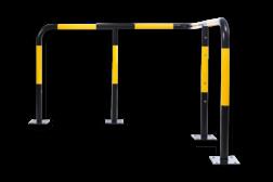 Hoekbeugel SR - Aanrijdbescherming staal aanrijdbeveiliging, aanrijdbescherming, beschermbeugel, hek, afzethek, hoekbeugel