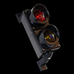 Verkeerslantaarn LED 2xØ100mm polycarbonaat stoplicht, stoppen, Verkeerslichten, verkeerslantaarn, LED, fitting