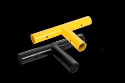 T-stuk koppelstuk - Modulaire aanrijdbeveiliging aanrijdbeveiliging, aanrijdbescherming, beschermbalk, beschermbeugel, hoekstuk, koppelstuk