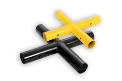 Kruisstuk koppelstuk - Modulaire aanrijdbeveiliging aanrijdbeveiliging, aanrijdbescherming, beschermbalk, beschermbeugel, hoekstuk, koppelstuk