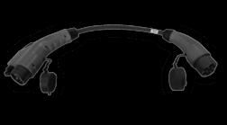 Adapter kabel voor vaste kabel type 2 naar type 1 auto Laadstation, oplaadpaal, laadpaal, EV-Box, EVBox, oplader, elektrische auto, thuis, aan huis, laadpunt, oplaadpunt, laadsessie, registreren, registratie, autolaadpunt, laadpasje