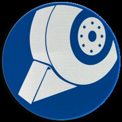 Gebodsbord M0xx - Verplicht gebruik wielblok Gebodsbord M0xx - Wielkeg gebruik verplicht wielblok, wielkeg