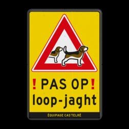 Waarschuwingsbord Loopjacht - Beagles Im Schrittempo überholen