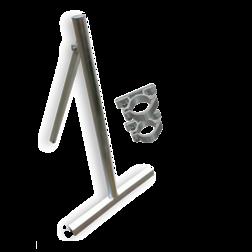 Verkeersbordstandaard EASY - Aluminium ø48x1200mm + beugelset Bordstandaard, verkeersbord ezel,