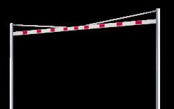 Hoogtebegrenzer variabel 1,8 - 2,8 mtr. met staanders ø102mm - Vaste uitvoering Doorrijhoogte, Hoogte, Begrenzer, Beperking, parkeergarage, Portaal, Hoogtebalk, C19-vrij invoerbaar, C19, L01