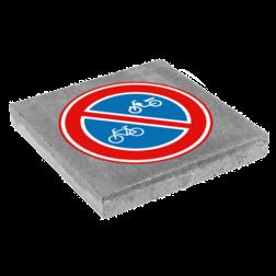 Symbooltegel 300x300mm - Aanduiding geen (brom)fietsen plaatsen betontegel,  stoeptegel, symbooltegel, print, opdruk, bedrukken,
