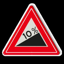 Verkeersbord Vooraanduiding Steile helling Verkeersbord RVV J06 - Vooraanduiding Steile Helling berg, heuvel, J6, steile helling, stijging, waarschuwingsbord