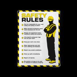 Veiligheidsbord - SAFERY RULES safety, rules, sign, veiligheidsbord, nen