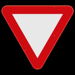 Verkeersbord B1: Dit verkeersbord plaats je in de onmiddellijke nabijheid van een plaats waar een bestuurder voorrang moet verlenen. Verkeersbord SB250 B1 - Voorrang verlenen B1 B07, Kruising, B6