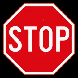 Verkeersbord B5: Dit verkeersbord wordt geplaatst in de onmiddellijke omgeving van het kruispunt waar de bestuurder moet stoppen en voorrang verlenen. Verkeersbord SB250 B5 -Stop B5