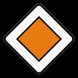 Verkeersbord B9: Dit verkeersbord geeft aan dat je je op een voorrangsweg bevindt. Verkeersbord SB250 B9 -Voorrangsweg B9
