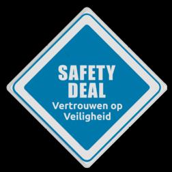 Logobord Safety Deal - Vertrouwen op veiligheid vijfsterrendorpen, 5 sterren,