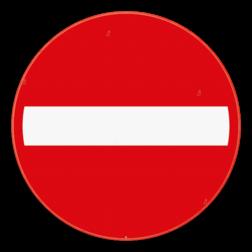 Verkeersbord C1: Verboden richting voor iedere bestuurder. Verkeersbord SB250 C1 - Verboden richting voor iedere bestuurder C1