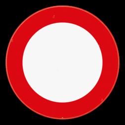 Verkeersbord C3: Verboden toegang, in beide richtingen, voor iedere bestuurder. Verkeersbord SB250 C3 - Verboden toegang C3