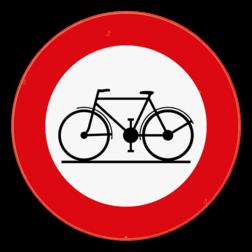 Verkeersbord C11: Verboden toegang voor bestuurders van rijwielen. Verkeersbord SB250 C11 -  Verboden toegang voor bestuurders van rijwielen C11