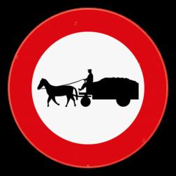Verkeersbord C13: Verboden toegang voor bestuurders van gespannen. Verkeersbord SB250 C13 - Verboden toegang voor bestuurders van gespannen C13